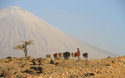 Masaai at Natron Lake